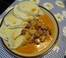 Chicken Goulash with sausage and dumplings