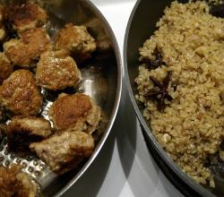 Chicken Meatballs and bulgur