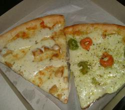Chicken ranch and tortellini pizza