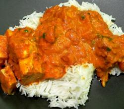Chicken Tikka Massala served with rice