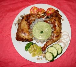 Chicken Tikka with Mint Raita and Salad