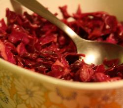 Chinese Dinner Menu - Red Cabbage Salad
