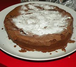 Choco Cake With Topped with Icing Sugar