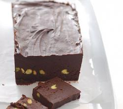 Chocolate and Pistachio Fudge