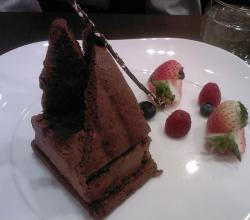Chocolate Mousse on plate