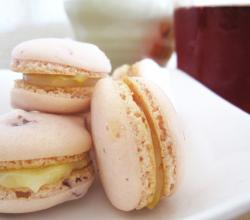 Chopped Strawberry Macaron Parisien with Lemon Curd Filling