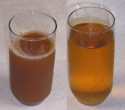 Cider and apple juice