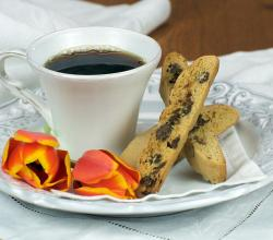 Coffee and Chocolate Chip Biscotti