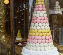 Conical Pyramid of Macarons
