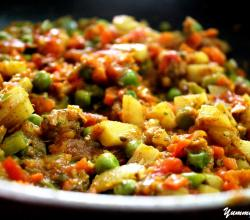Cooked Vegetable Masala