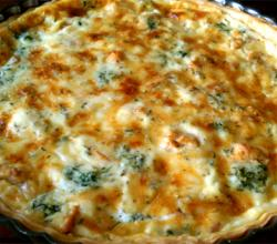 Crab and Blue Cheese Quiche