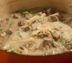 Creamy Beef And Mushrooms