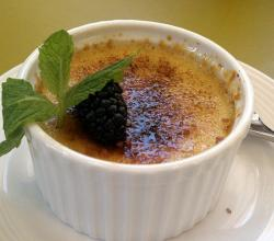 Creme Brulee with berry