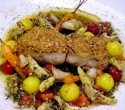 Crusted Snapper With Artichoke Vinaigrette