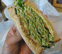 Cucumber And Sprouts Sandwich