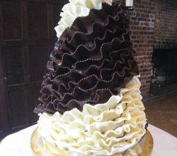 White and Dark Chocolate Wedding Cake