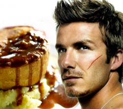 David Beckham with Pie and Mash