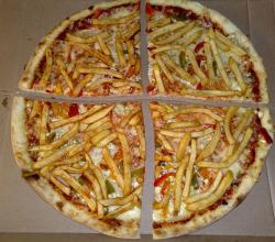 Delicious French Fry Pizza