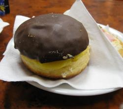 Doughnut with Chocolate and Custard