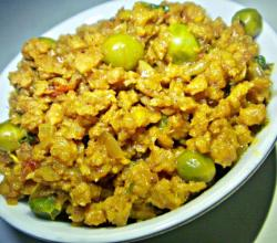 Vegetarian Keema With Peas