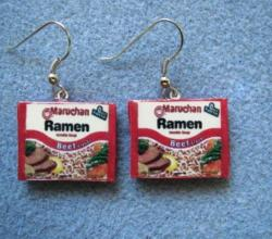 Ramen Packet Earrings