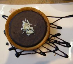 Espresso Chocolate Tart with Chocolate Sauce