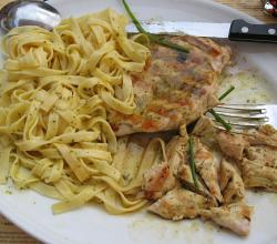 Fettuccine Pasta with Chicken