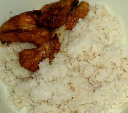 Filipino Chicken Adobo with rice