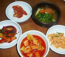 Five different Kimchi