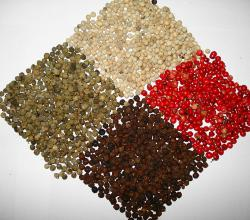 Four colors of peppercorn