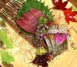 Fresh Raw Seafood Sashimi