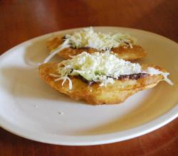 Fried empanadas with cheese