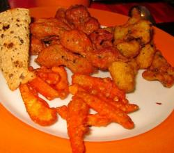Appetizers - Deep Fried Chicken and Baby Corn