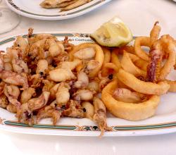 Fried Squid and Sardines