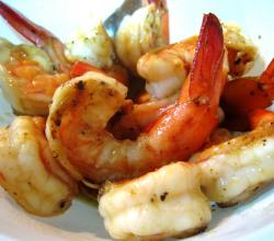 Garlic Flavored Barbecued Prawns