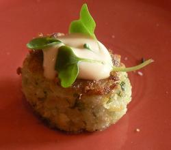 Garnished crabcake