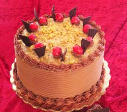 German Chocolate Cake decoration