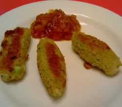Glamorgan Sausages with Tomato Chutney