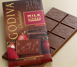 Godiva's Large 31% Milk Chocolate Salted Caramel Bar