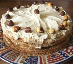 Golden Nut Meringue Cake