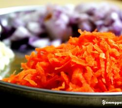 Grated Carrot Onions Garlic