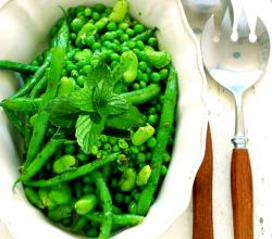 Green Beans with Peas