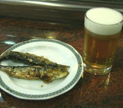 Grilled Sardines with Beer
