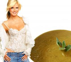 Heidi Klum with Sauerkraut Soup