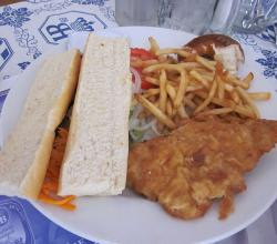 Hofbrau Miami Schnitzel Sandwich