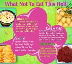 What Not To Eat This Holi!!!