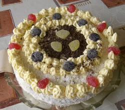 Home-made czech birthday cake