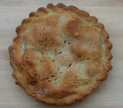 Homemade apple pie crust