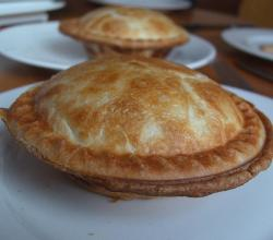 Homemade curry chicken pot pies