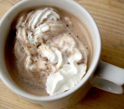 Hot cocoa  with Cream